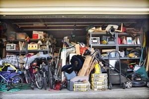 A garage packed with junk!
