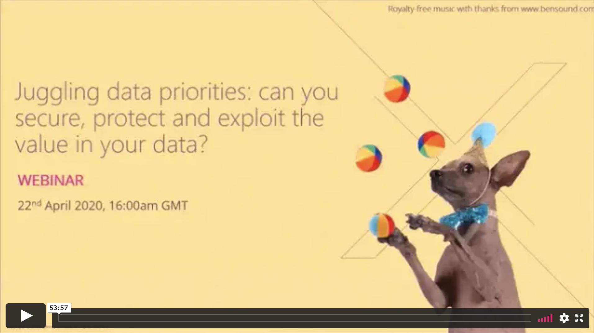 Juggling data priorities