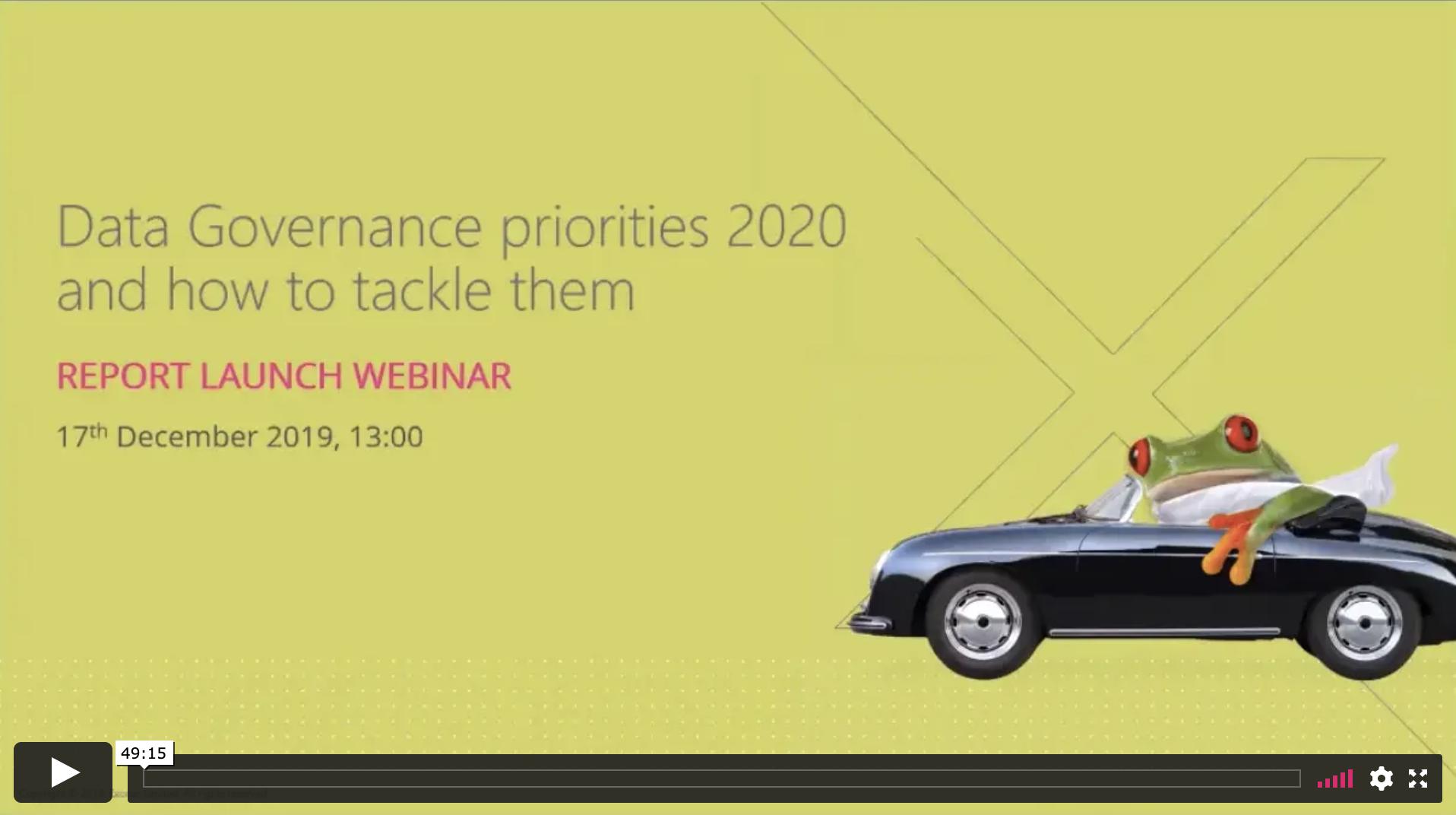 Data governance priorities